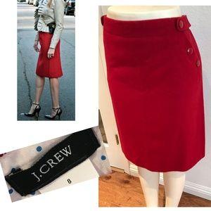 J. Crew Cashmere Wool A-line Skirt Knee Length